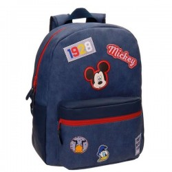 Mochila Mickey Parches 42cm adaptable