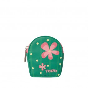Monedero estampado flores -...