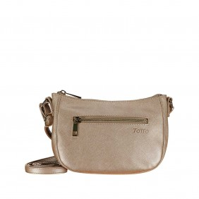 Bolso mujer color beige -...