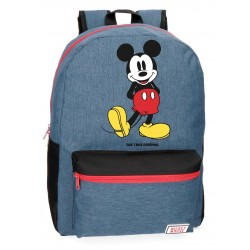 Mochila infantil Mickey Blue 42cm adaptable