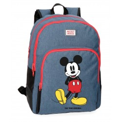 Mochila Mickey Blue 44cm adaptable 2 compartimentos