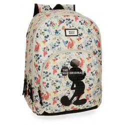 Mochila Mickey True Original 44cm 2 compartimentos adaptable