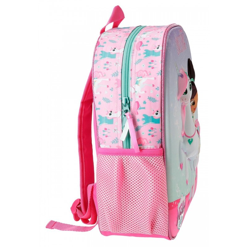 Mochila Nella Unicorn 33cm adaptable