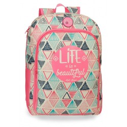 Mochila escolar Roll Road Life 40cm adaptable a carro