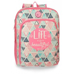 Mochila escolar Roll Road Life doble compartimento 42cm