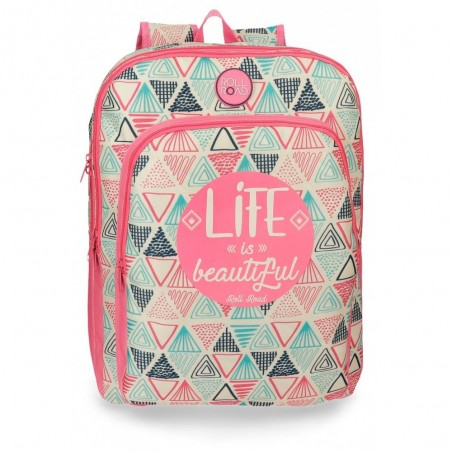 Mochila Roll Road Life 42cm 2 compartimentos adaptable