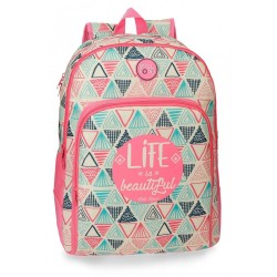 Mochila escolar Roll Road Life doble compartimento 44cm