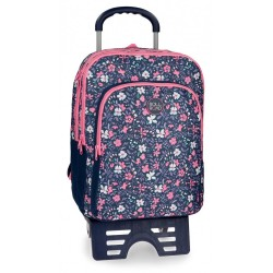 Mochila escolar Roll Road Spring doble compartimento 42cm con carro