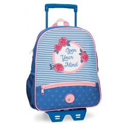 Mochila con carro Roll Road Rose 33cm