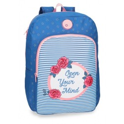 Mochila escolar Roll Road Rose 40cm adaptable a carro