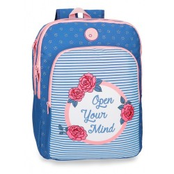 Mochila Roll Road Rose 42cm 2 compartimentos