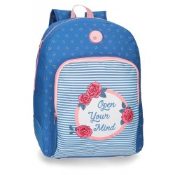Mochila escolar Roll Road Rose 44cm adaptable a carro