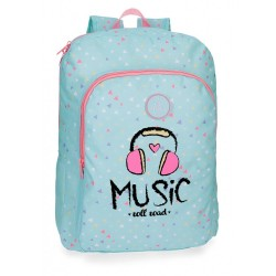 Mochila escolar Roll Road Music 40cm adaptable a carro