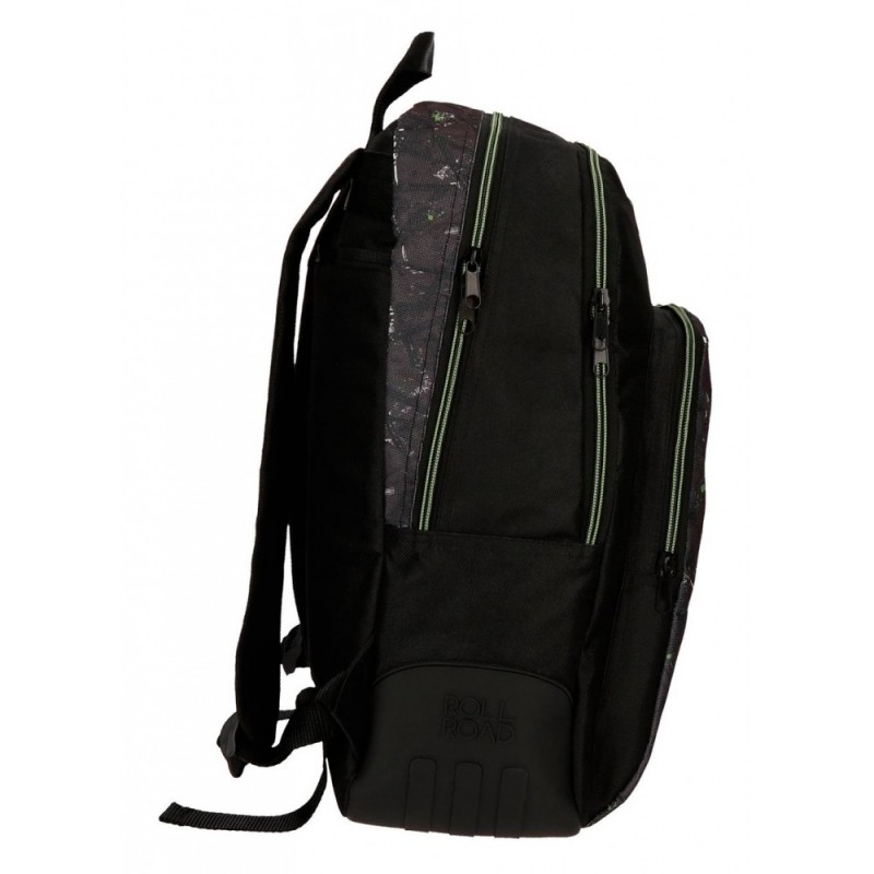 Mochila escolar Roll Road California doble compartimento 44cm adaptable a carro