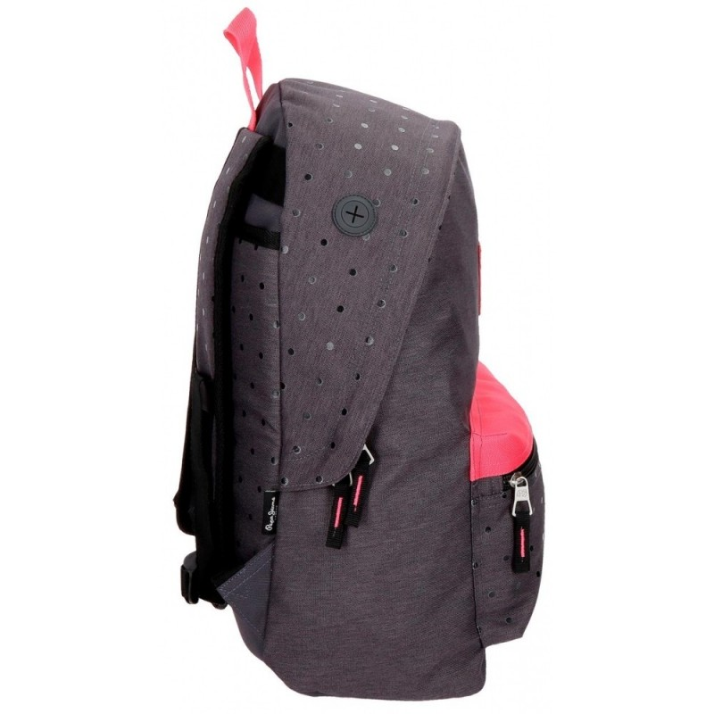 Mochila 42 cm adaptable a carro Pepe Jeans Molly gris