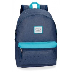 Mochila Pepe Jeans Molly azul 42 cm adaptable