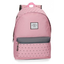 Mochila Pepe Jeans Molly rosa 42 cm adaptable