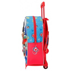 Mochila 33cm frontal 3D con carro World Mickey