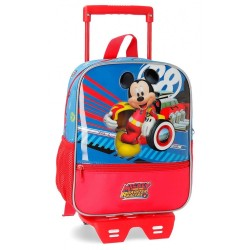 Mochila con carro Mickey World 28cm