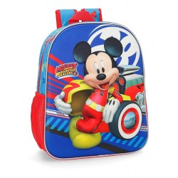 Mochila Mickey World 33cm frontal 3D adaptable