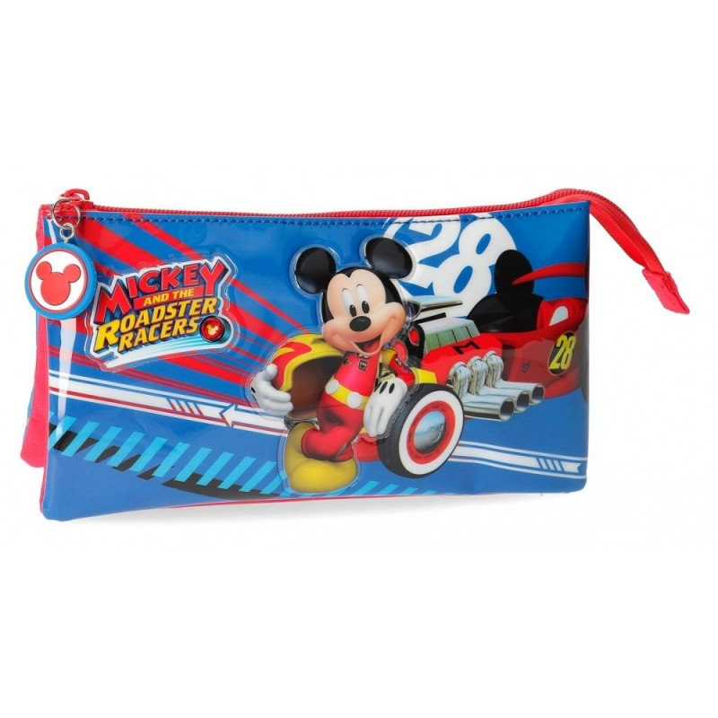 Estuche tres compartimentos World Mickey