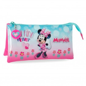 Estuche tres compartimentos Minnie Heart