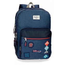 Mochila 44 cm doble cremallera adaptable a carro Pepe Jeans Paul