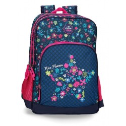 Mochila doble compartimento adaptable a carro Movom Nice Flowers