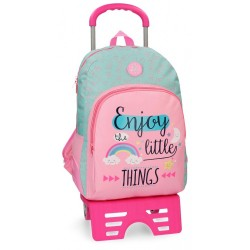 Mochila escolar Roll Road Little Things 44cm con carro