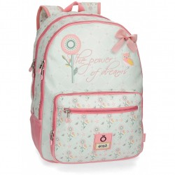 Mochila Enso Owls 44cm 2 compartimentos adaptable