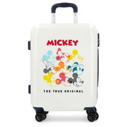 Maleta de cabina rígida Mickey Magic caras beige