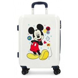 Maleta de cabina rígida Mickey Enjoy the Day Oh Boy Beige