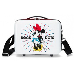 Neceser ABS Minnie Magic dots adaptable a trolley