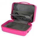Neceser ABS Catalina Estrada Abanico adaptable a trolley fucsia