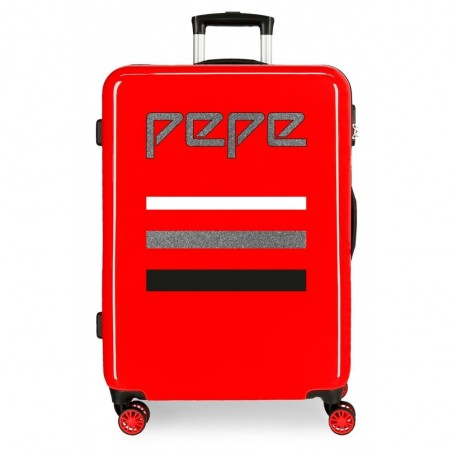 Maleta mediana Pepe Jeans World roja + Regalo