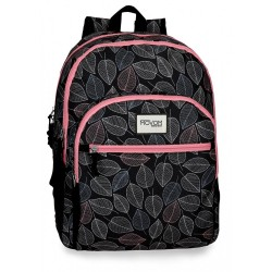 Mochila doble compartimento Movom Leaves Coral