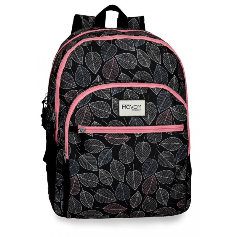 Mochila doble compartimento adaptable a carro Movom Leaves Coral