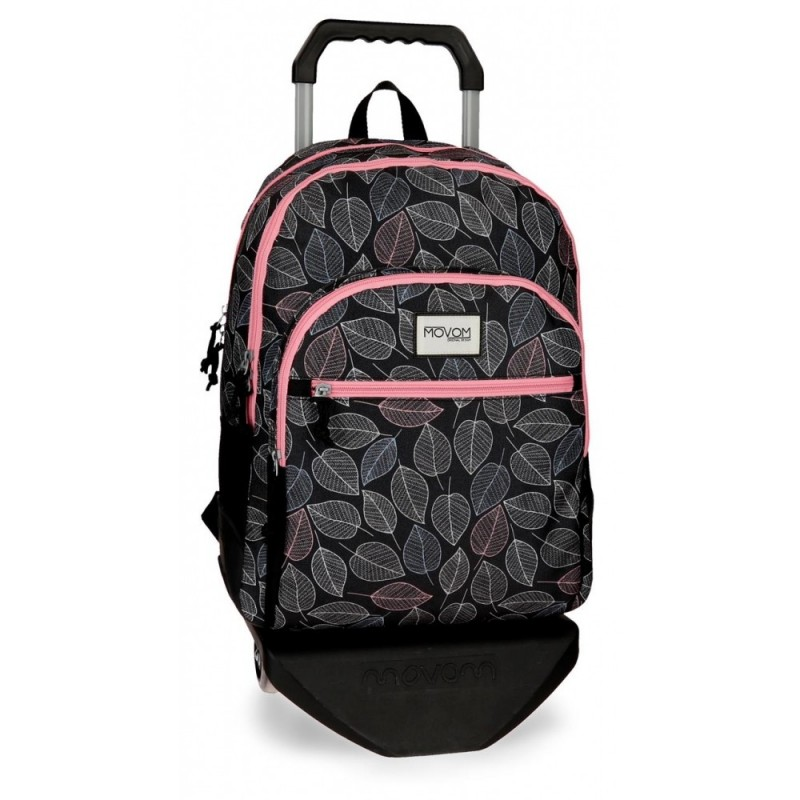 Mochila doble compartimento con carro Movom Leaves Coral