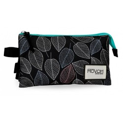 Estuche triple Movom Leaves Verde
