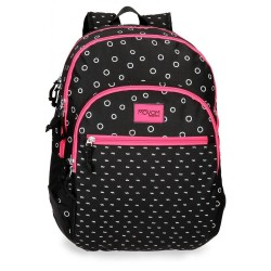 Mochila doble compartimento adaptable a carro Movom Bubbles Fucsia