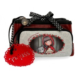 Neceser Gorjuss tres compartimentos Little Red Riding Hood