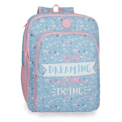 Mochila Escolar Doble Compartimento Roll Road Dreaming