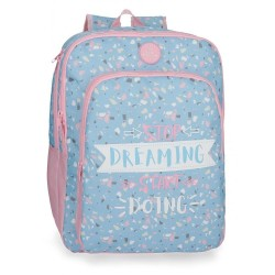 Mochila Escolar Doble Compartimento Adaptable Roll Road Dreaming