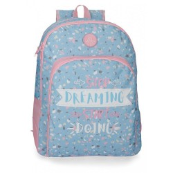 Mochila Doble Compartimento 44cm Roll Road Dreaming