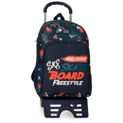 Mochila con carro Roll Road Freestyle 44cm doble compartimento