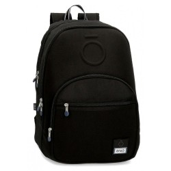 Mochila doble compartimento adaptable Enso Basic Negra