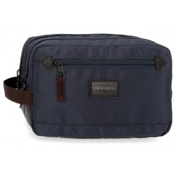 Neceser Doble Compartimento Adaptable Pepe Jeans Lambert Azul