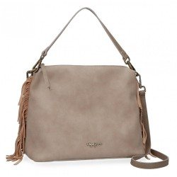 Bolso Pepe Jeans Fringe Taupe