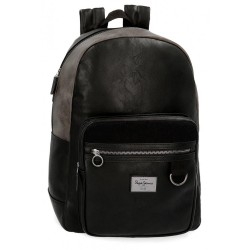 "Mochila adaptable para portátil 15,6"" Pepe Jeans Miller Negra"