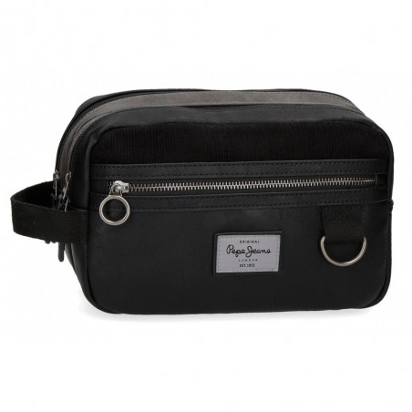 Neceser Doble Compartimento Adaptable Pepe Jeans Miller Negro